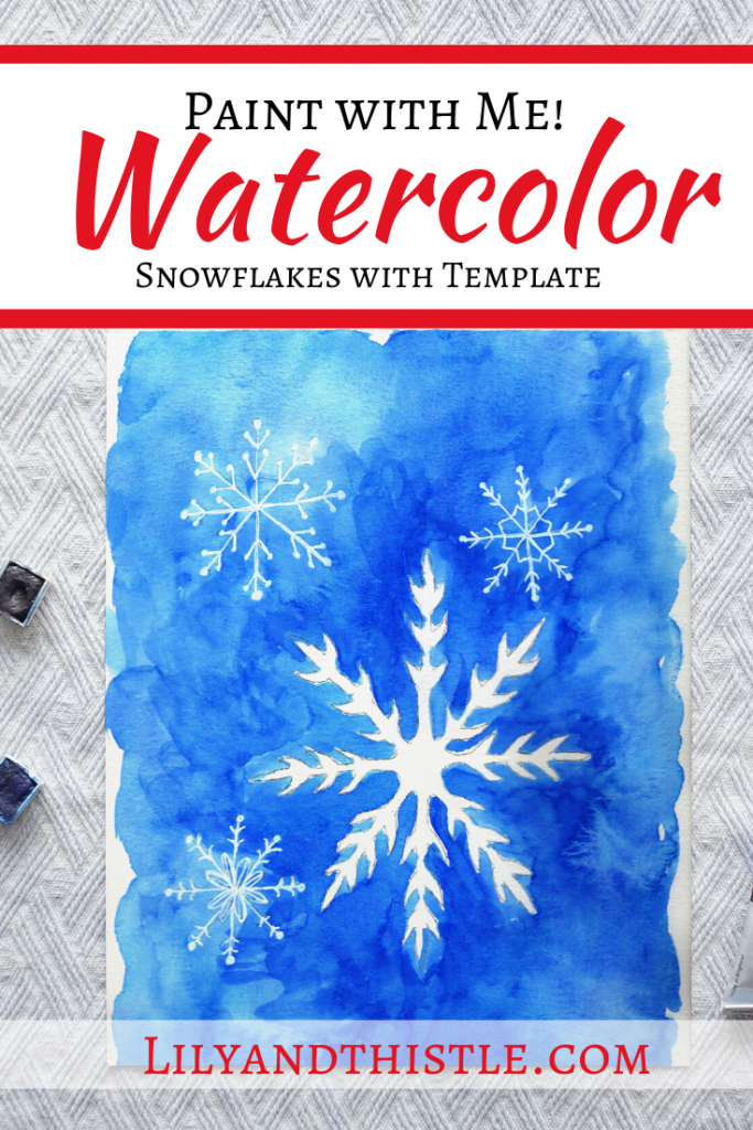 How to Watercolor Snowflakes a step by step video tutorial for beginners
