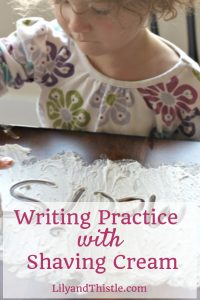 Writing Practice with Shaving Cream – From The Archives