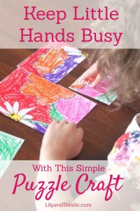 Keep Little Hands Busy With This Simple Puzzle Craft