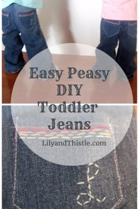 Easy Peasy DIY Toddler Jeans Tutorial – From the Archives