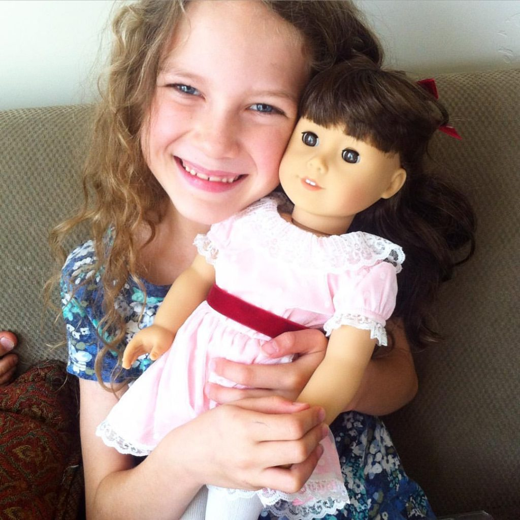 I have a love-hate relationship with the dolls but, American Girl books have been a great strategy for nurturing a love of reading and history in my children! Plus we've had some fun DIY ing clothes and accessories! Click through to see what we did. #americangirldiy #readingstrategies #strugglingreader #readingchildren #readinghelpforstrugglingreaders #americangirldoll