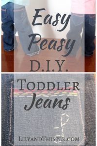 Easy Toddler Jeans DIY Tutorial
