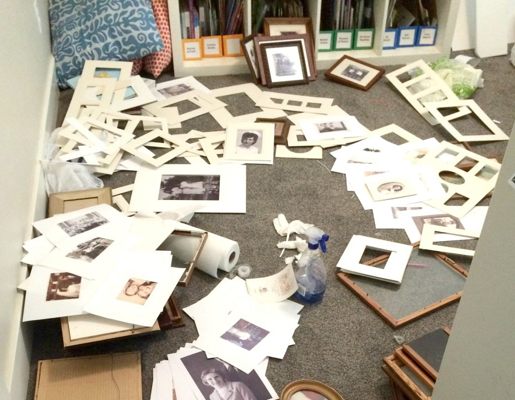 Great step-by-step instructions on how to DIY a meaningful Ancestor Gallery Wall! Full of useful tips and ideas on finding quality frames, repurposing mats, and how to hang everything easily. Whether you are going for an eclectic farmhouse look or just want something special to decorate your bedroom or living room, you'll find some great inspiration here! #gallerywall #ancestorart #diy #decorating #wallart #frames #pictureframe