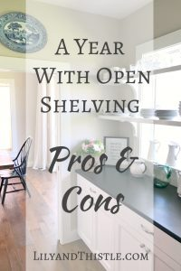 Open Shelving - Pros and Cons