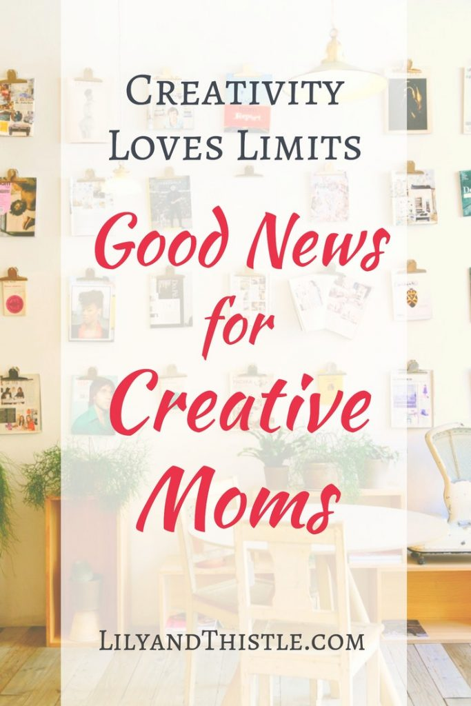 Are you a creative mom who longs to have time for art and creativity? Self-care is important! It's not always about time management, sometimes it's just seeing things from a different perspective. Click through for some inspiration and tips on how to use your limits to help more creativity happen - even when it feels impossible. Your kids will thank you! #selfcare #momtimeideas #timemanagement #creativeinspiration #momtime #artinspiration