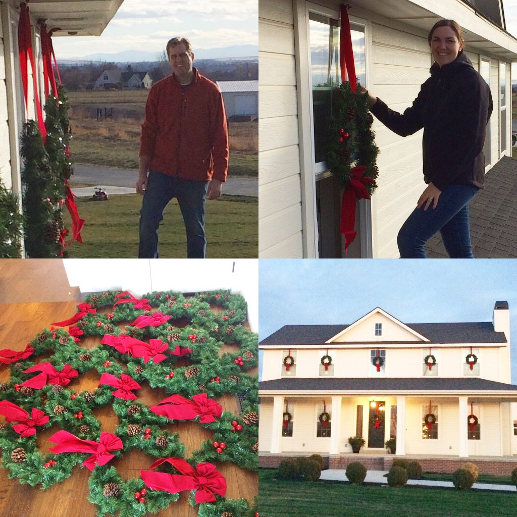 How to Hang Wreaths Outside Window