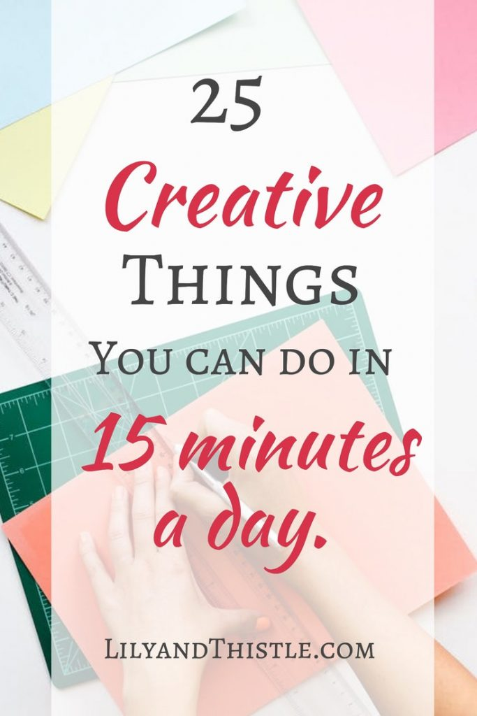 Finding Time to Create is hard especially if you are a busy mama! Here's a great list of ideas that will help in your creative self-care routine. Tips and activities that will help your mental health and your relationships with kids and adults alike! #creativeselfcare #arttips #creativetimeformom