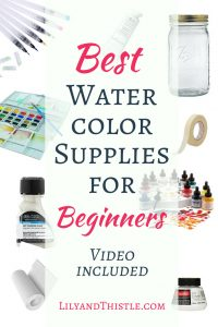 Watercolor Basics – A Quick Supply Guide for Beginners