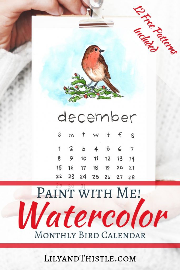 Paint with me! Free printable 2019 calendar with patterns for you to download and paint. Video instructions perfect for the beginner! Cute, fun, easy inspiration for you!