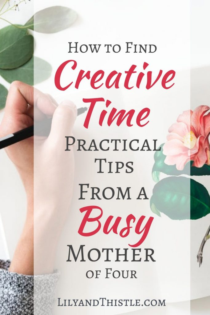 Don't miss these great tips! Are you a busy mom who wants more time either alone or with the kids for focused creativity? Time management can be challenging at this stage but making time for self-care is important! :) I've spent the last four years, in the midst of raising four little people figuring out how to carve out time for focused creativity. Here's what's helped! #selfcare #momtime #creativemom #momlife #momtimeideas #timemanagement #selfcareideas