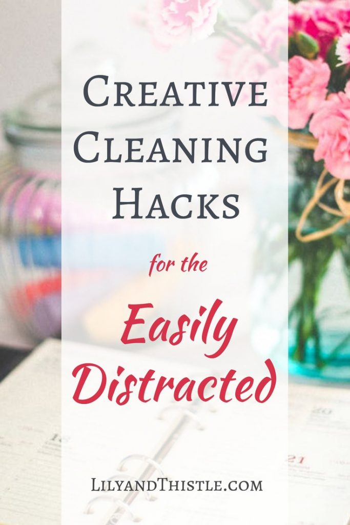 You aren't lazy, you are just easily distracted! I am too. I've learned some simple cleaning and organizing hacks that will help you conquer the clutter and get your kids involved! Click through to read my tips and tricks to cleaning and organizing anything from the kitchen to the bathroom. #cleaninghack #organizinghack #cleaningtipsandtricks #organizingforfamilies