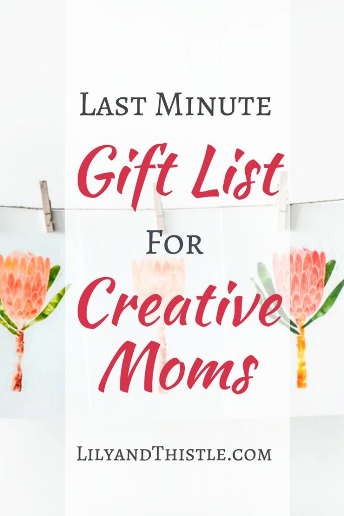 Running out of time? This gift guide for artists, crafters, painters, hand lettering pros and creatives who also happen to be moms is just what you need! Budget friendly ideas that can be to you door or inbox today! #giftguide #giftideas #creativemom #artistgiftguide