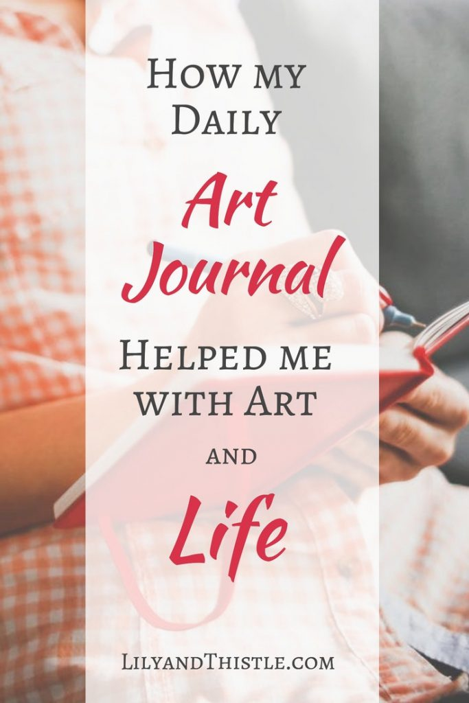 How My Daily Art Journal Practice Helped Me With Art and Life. I think of this as a bullet journal for artists! If you are a creative mom looking for inspiration or a bit of a drawing challenge, this is for you. Even if you are just a beginner! Just small, easy doodles in my sketchbook helped me with self-care and have created happy memories for me and my kids. #artjournal #momlife #sketchbook #artinspiration #artforkids #artformom #momtime #beginnerarttutorial #tutorial