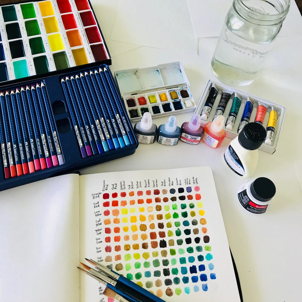 Whether you are a beginner with watercolor or just want some new ideas for fun supplies. This is for you! Watercolor is such an easy and fun art technique but it's important to have good tools. This list will give you plenty of ideas for simple but quality supplies to get started on your first project. Video included! #watercolor #watercolortechniques #watercolorbeginner #watercolorsupplies #watercolorprojects #watercolorideas #artproject #selfcare