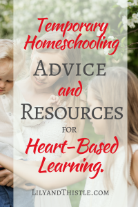 Temporarily Homeschooling article about homeschooling temporarily