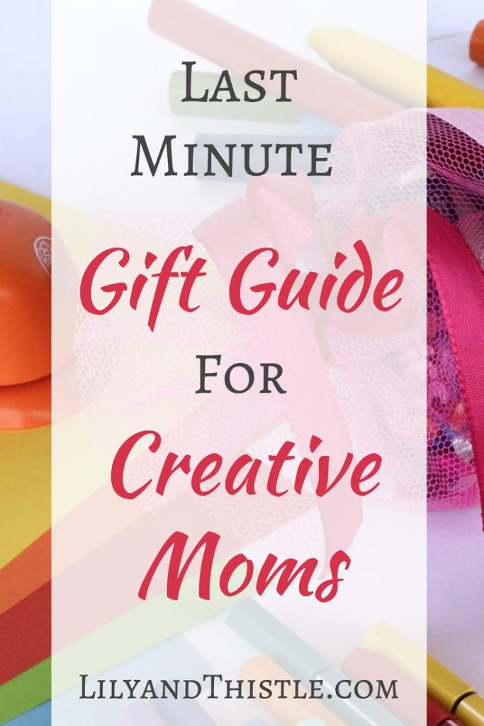Last Minute Gift Guide for Creative Moms. Perfect list for Christmas or Mothers Day. Use these as stocking stuffers or your main gift. For artists, crafters, painters, hand lettering. On a budget? There are some great options! #giftguide #creativegiftlist #artistgiftguide #watercolorsupplies
