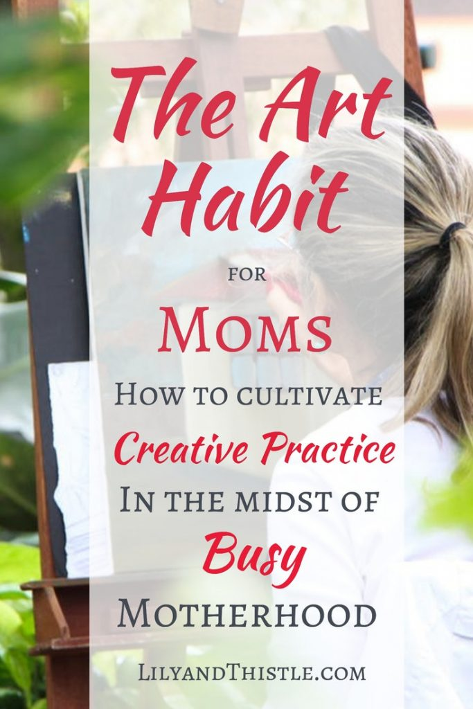The Art Habit for Moms is a short and easy to follow e-course to help you make art and creativity a habit in your life. Whether you want to get started with hand lettering or want to get better at watercolor painting. This course will help you get started. Great self-care for moms of all ages! #momhacks #inspirationformom #selfcareideasformom