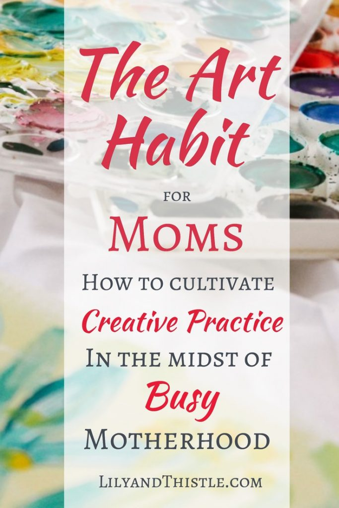 Art for Mom. Sometimes we do all we can to encourage our kids in art class. What about you? Art and creativity are the best kind of self care. This course has easy, simple inspiration to help you make art and creativity a habit. #artjournal #momselfcare #highlysensitivemom #mentalhealthformom #artclassesforkids