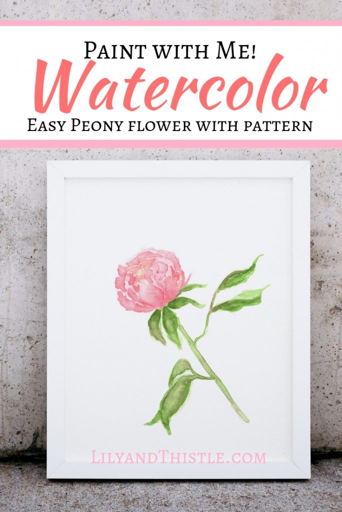 How to Paint Watercolor Peony Flowers for Beginners. Great video with step by step instructions on how to paint a watercolor flower
