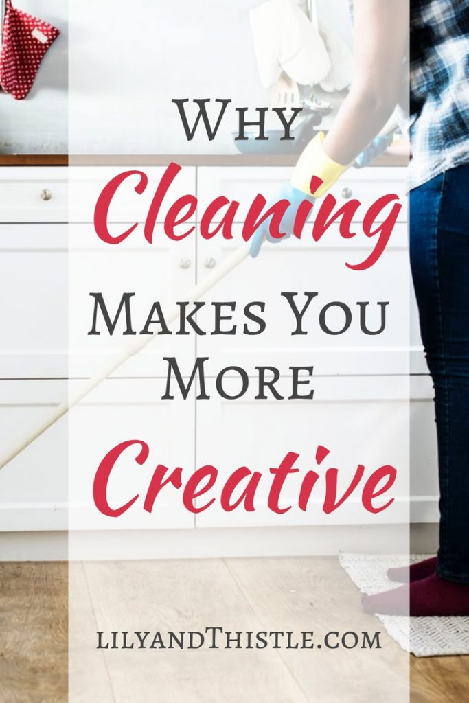 Can cleaning really make you more creative? There are studies showing that indeed it can! Whether you are cleaning the bathroom or the kitchen, organizing a small space or just picking up clutter, you will see how they all can contribute to creativity! #selfcare #cleaningtipsandtricks #cleaninghack #diy
