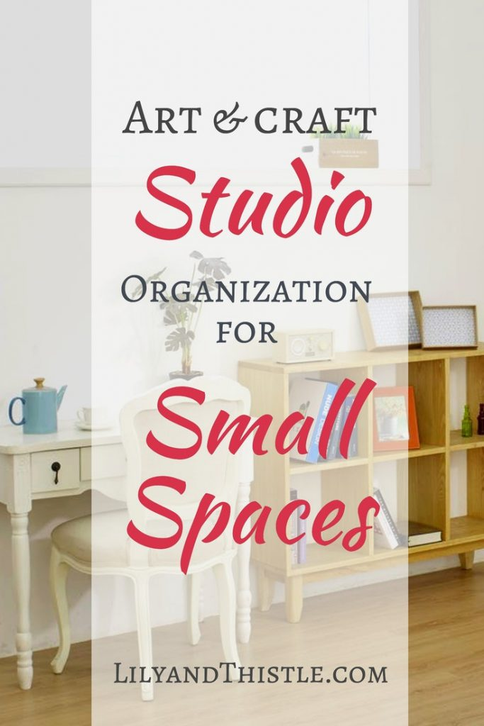 A great round up of art studio and craft room organization ideas for small spaces. From easy DIY storage solutions to beautiful photos full of inspiration, you are bound to find something you can use for your own space! #artstudio #artstudioinspiration #craftroom #craftroomorganization #artstudioorganization #artstudiobedroom #DIYstorage #storagesolutions