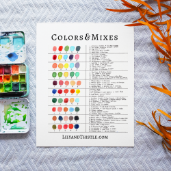 How to Watercolor - Free watercolor mixing guide. Use this guide to help you put colors together.
