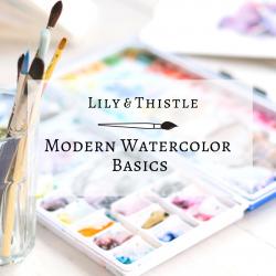 Lily & Thistle Modern Watercolor Basics Logo